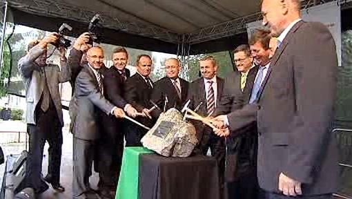 Zahájení stavby plynového zásobníku v Rožné