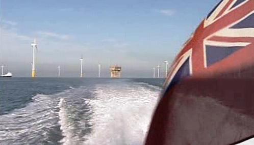 Britská větrná elektrárna Thanet