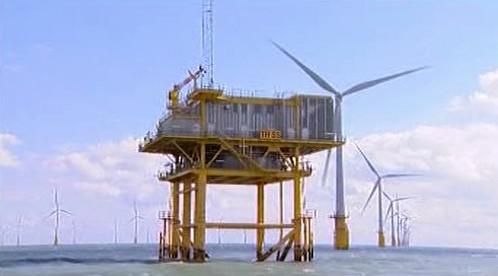 Britská větrná elektrárna
