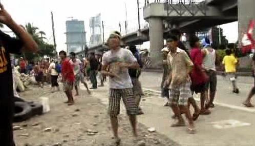 Nepokoje na předměstí Manily