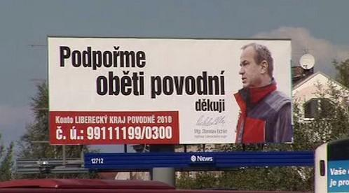 Hejtman Stanislav Eichler na billboardu