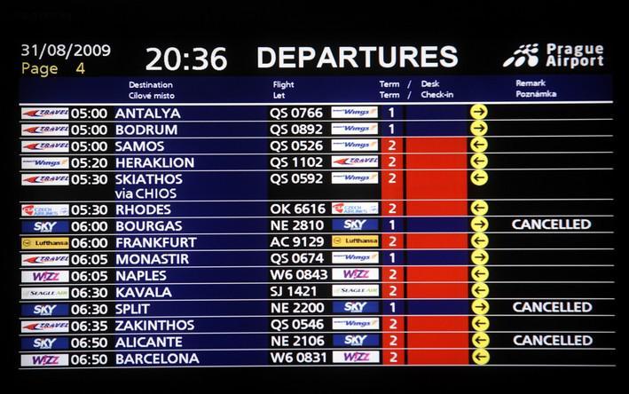 Zrušené lety společnosti SkyEurope