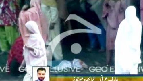 Následky havárie autobusu v Pákistánu