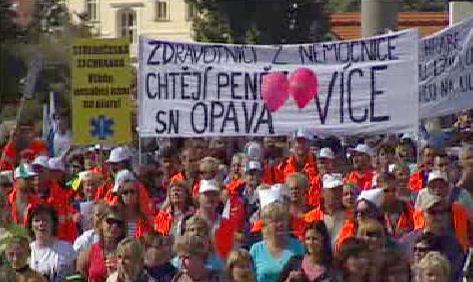 Demonstranti na Palachově náměstí