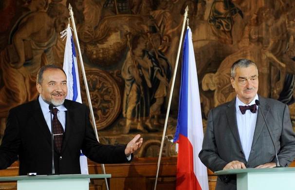 Avigdor Lieberman a Karel Schwarzenberg