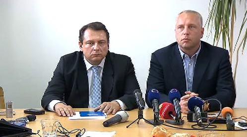 Jiří Paroubek s Petrem Bendou