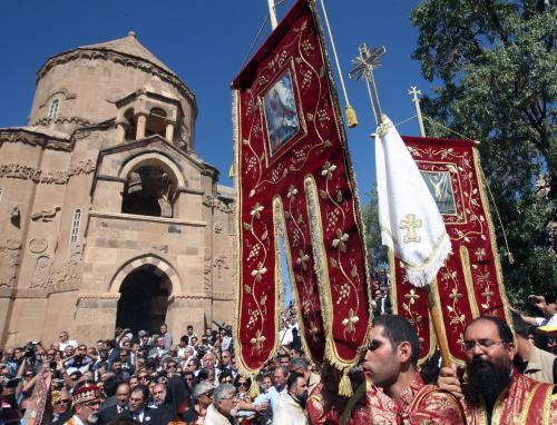 Mše v arménském kostele