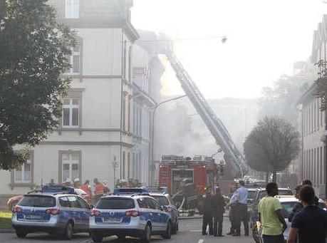 Policejní manévry v německém Lörrachu