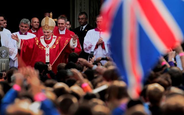 Benedikt XVI. v Londýně