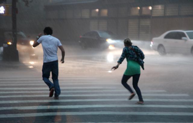 Bouřka v New Yorku