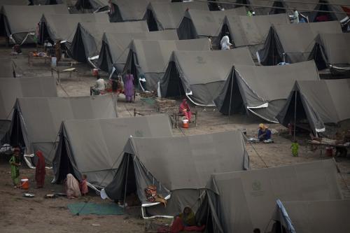 Tábor pro oběti povodní v Pákistánu