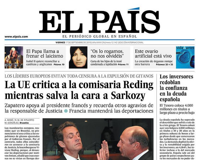 El País ze 17. září 2010