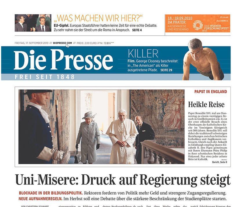 Die Presse ze 17. září 2010