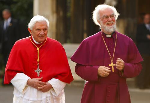 Benedikt XVI. s arcibiskupem z Canterbury