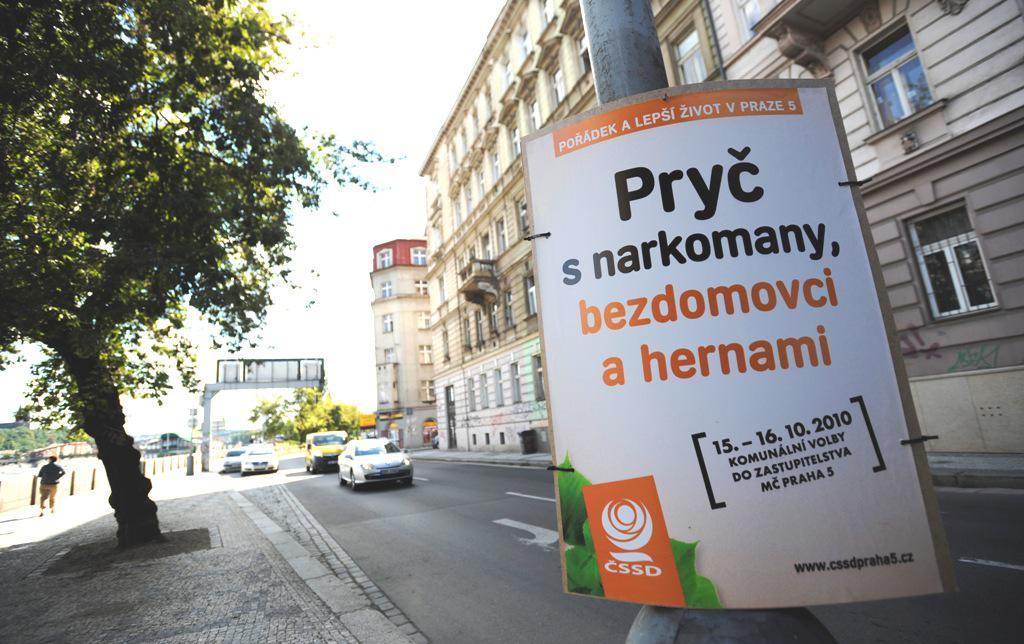 Plakáty ČSSD v Praze 5