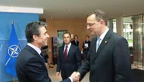 Anders Fogh Rasmussen a Petr Nečas