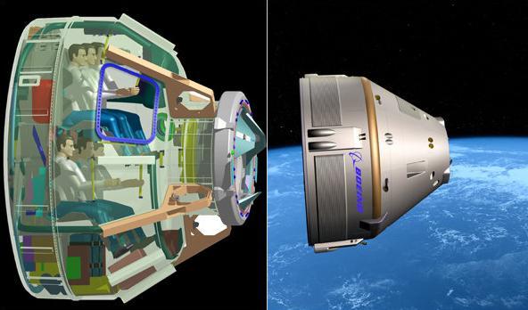 Návrh vesmírné lodě Boeingu