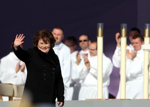 Susane Boyleová zazpívala před papežovou mší v Glasgow