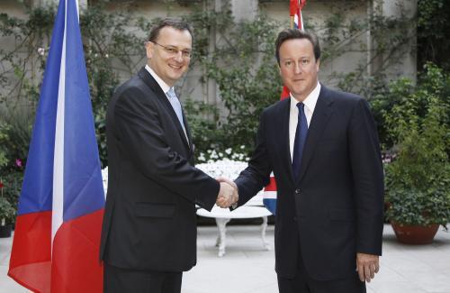 Petr Nečas a David Cameron
