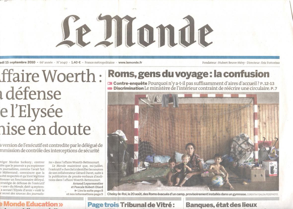 Vyhošťování Romů v Le Monde