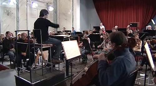 Zkouška Karlovarského symfonického orchestru