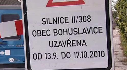 Silnice II/308 uzavřena