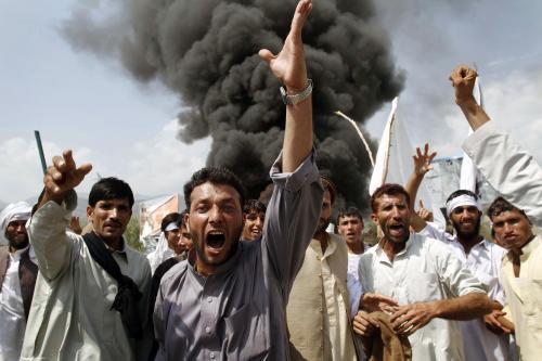 Protesty proti USA v Afghánistánu