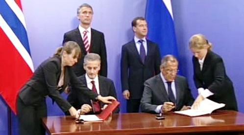 Rusko a Norsko podepisují dohodu o hranicích v Arktidě