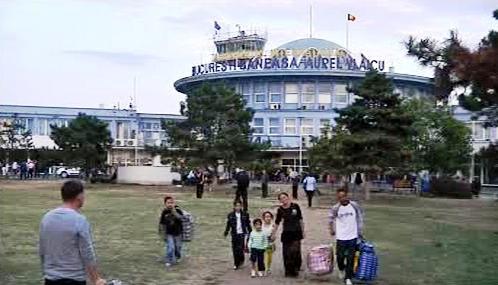 Romové na bukurešťském letišti
