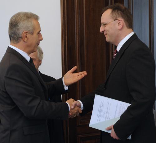 Stanislaw Tillich a Petr Nečas