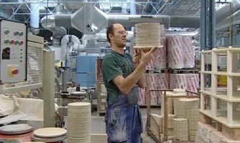 Práce v porcelánce