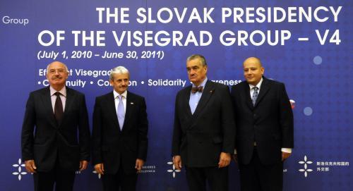 Představitelé V4 v Bratislavě