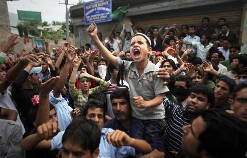 Protesty v Kašmíru