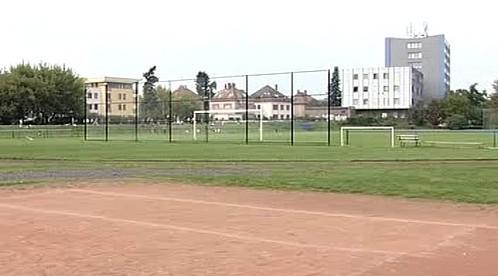 Stávající fotbalové hřiště v lokalitě Bavlna