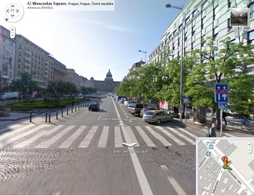 Václavské náměstí v Google Street View