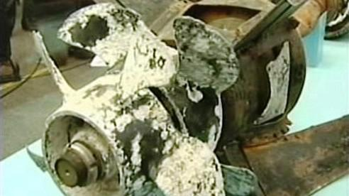 Šroub z jihokorejské lodi