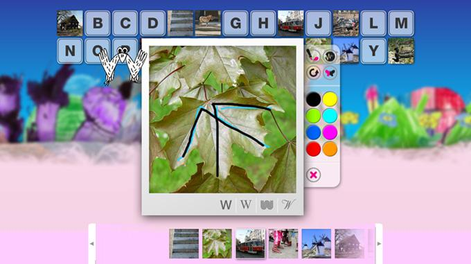 Ukázka z interaktivního slabikáře