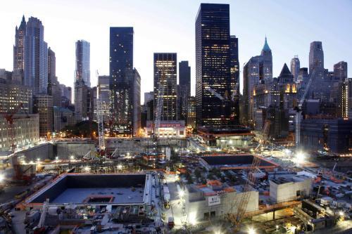 Ground Zero devět let po teroristických útocích