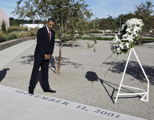 Prezident Obama uctil památku obětem 11. září
