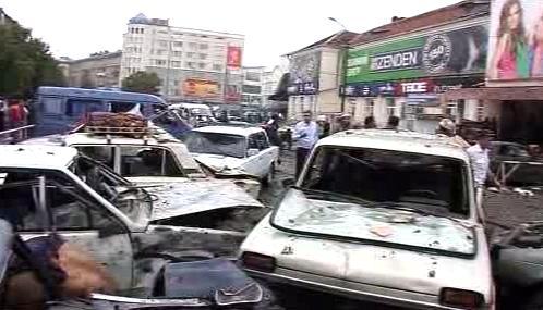 Výbuch na tržišti ve Vladikavkazu