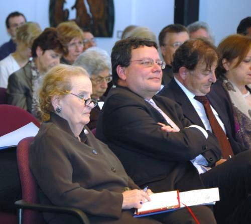 Madeleine Albrightová a Alexandr Vondra