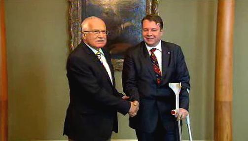 Václav Klaus a Martin Kocourek