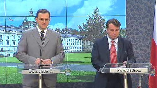 Petr Nečas a Martin Kocourek