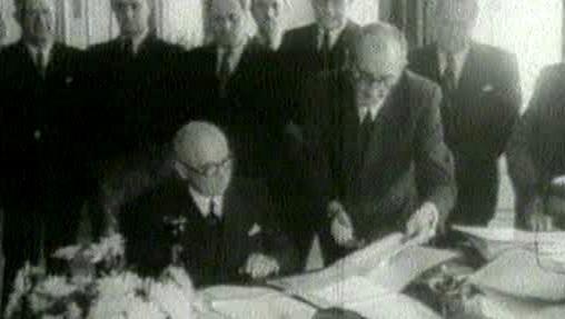 Podpis vzniku exilové vlády