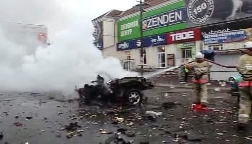 Následky výbuchu na tržišti ve Vladikavkazu