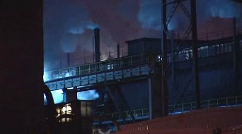 Požár v areálu Sokolovské uhelné společnosti