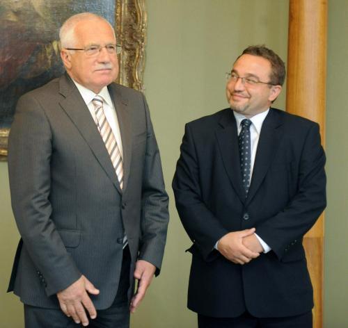 Václav klaus a Josef Dobeš