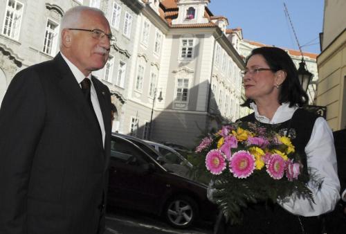 Václav Klaus a Miroslava Němcová