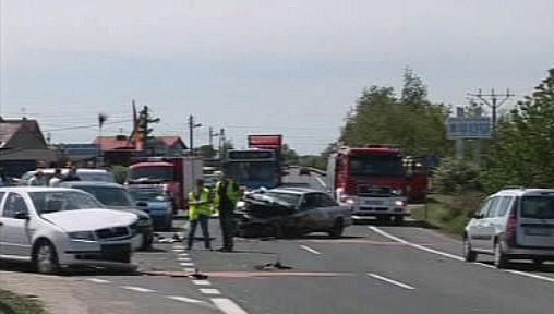 Nehoda na polské silnici