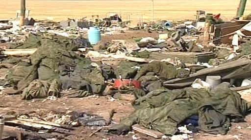 Následky výbuchu v centrálním Dagestánu